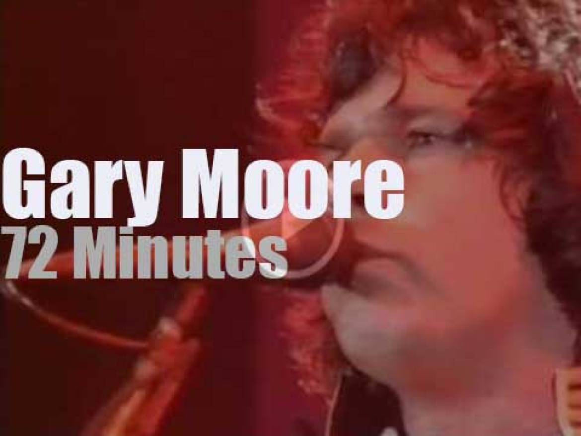 Gary Moore goes live in Stockholm (1987)
