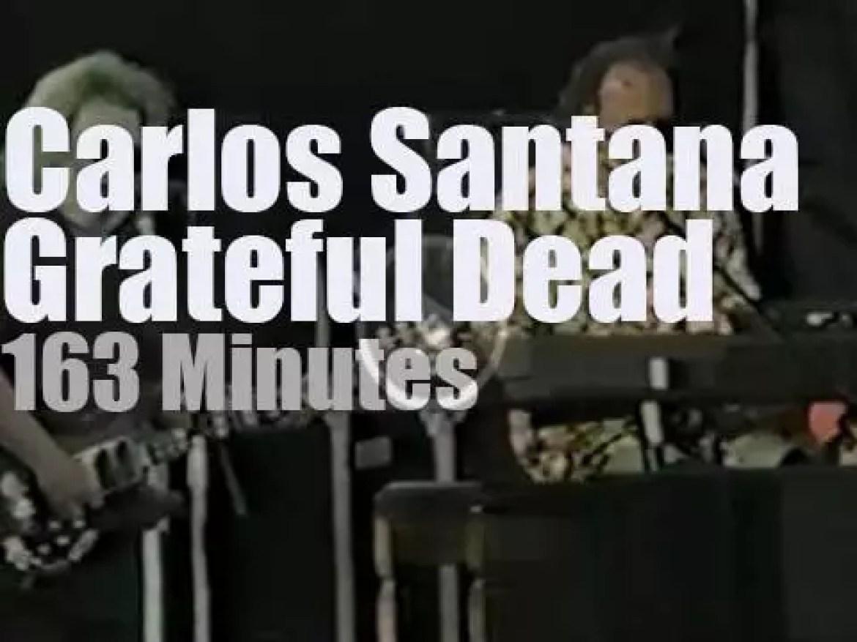Grateful Dead  play then Carlos Santana walks in (1991)