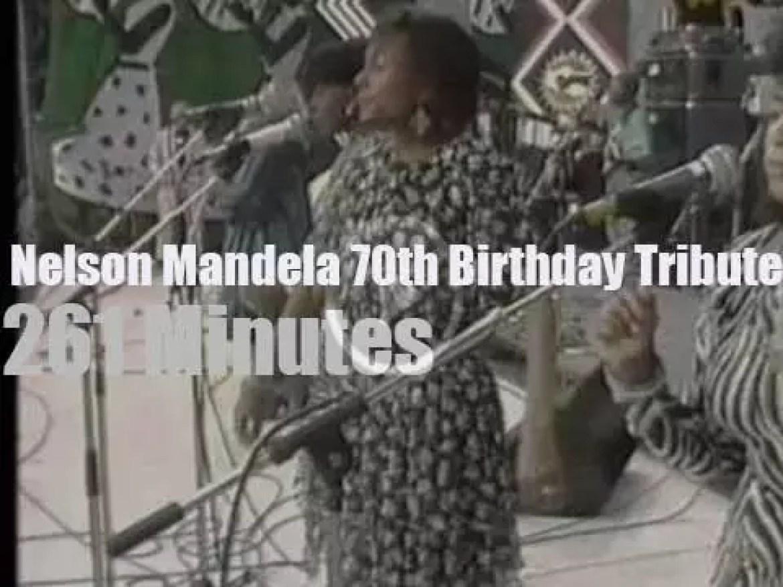 Miriam, Joe, Sting et al get together  for Nelson Mandela 70th Birthday (1988)