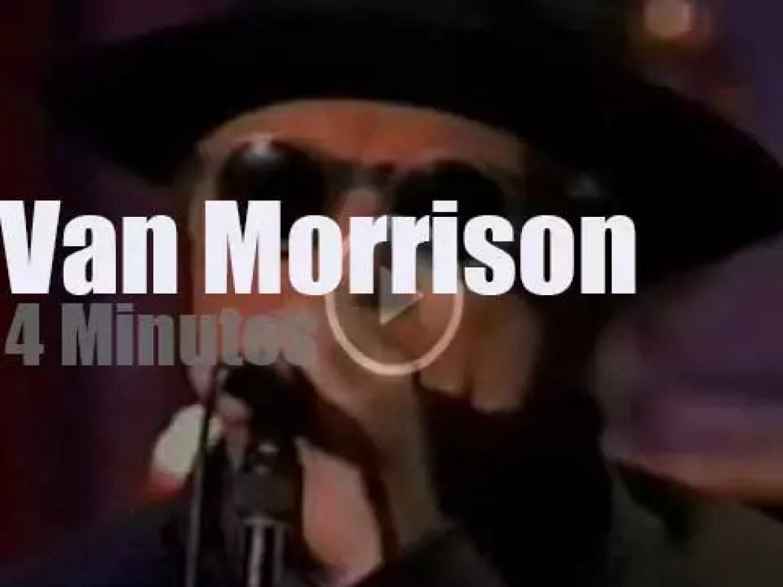 On TV today, Van Morrison with David Letterman (1995)