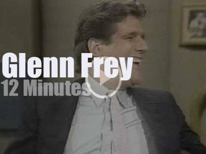 On TV today, Glenn Frey  with David Letterman (1984)