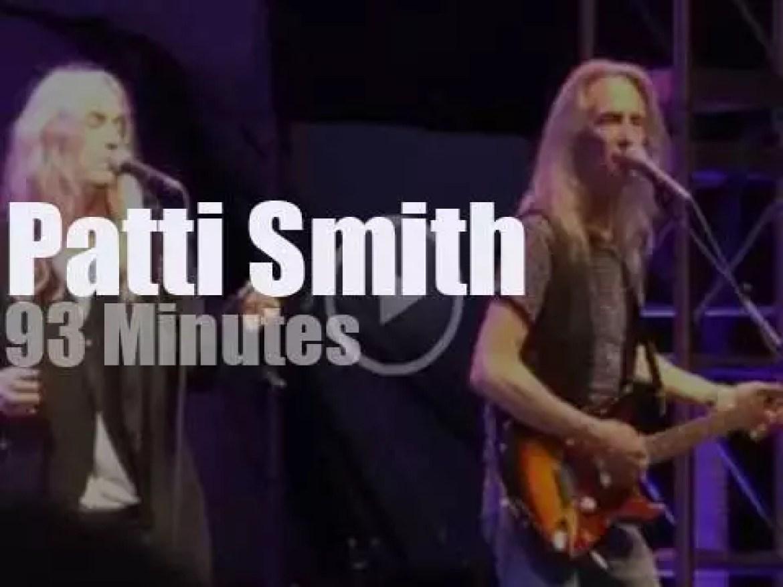 Patti Smith rocks New-York (2016)