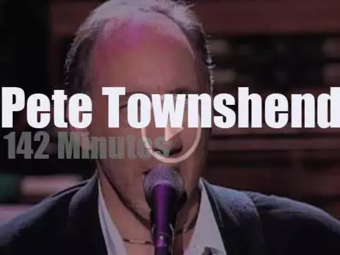 Pete Townshend revisits the Who with his own band (1993)