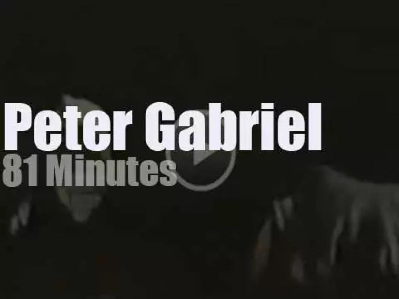 Peter Gabriel visits Philadelphia (1987)