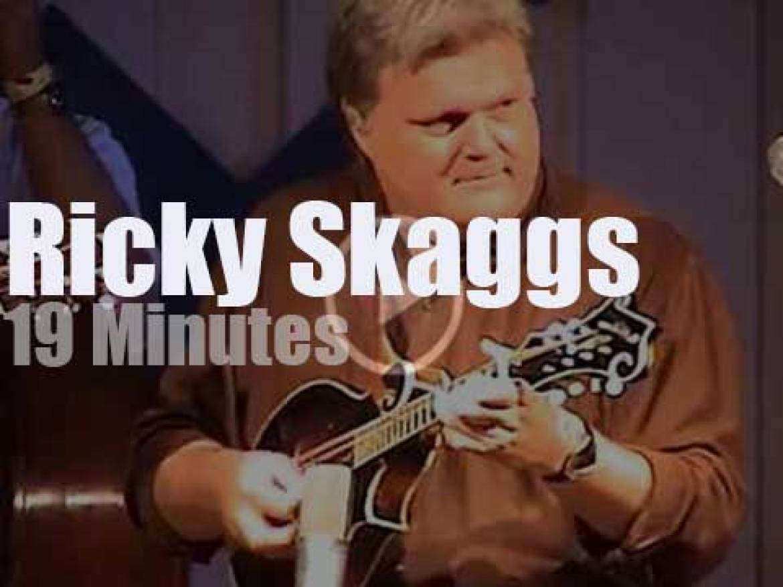 Ricky Skaggs takes his mandolin to a bluegrass festival (2002)