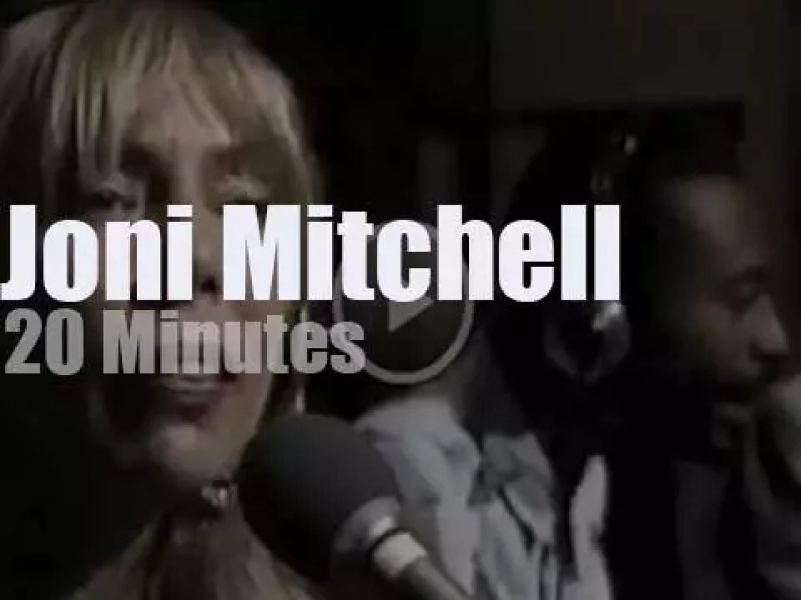 On TV today, Joni Mitchell and some famous friends (1987)