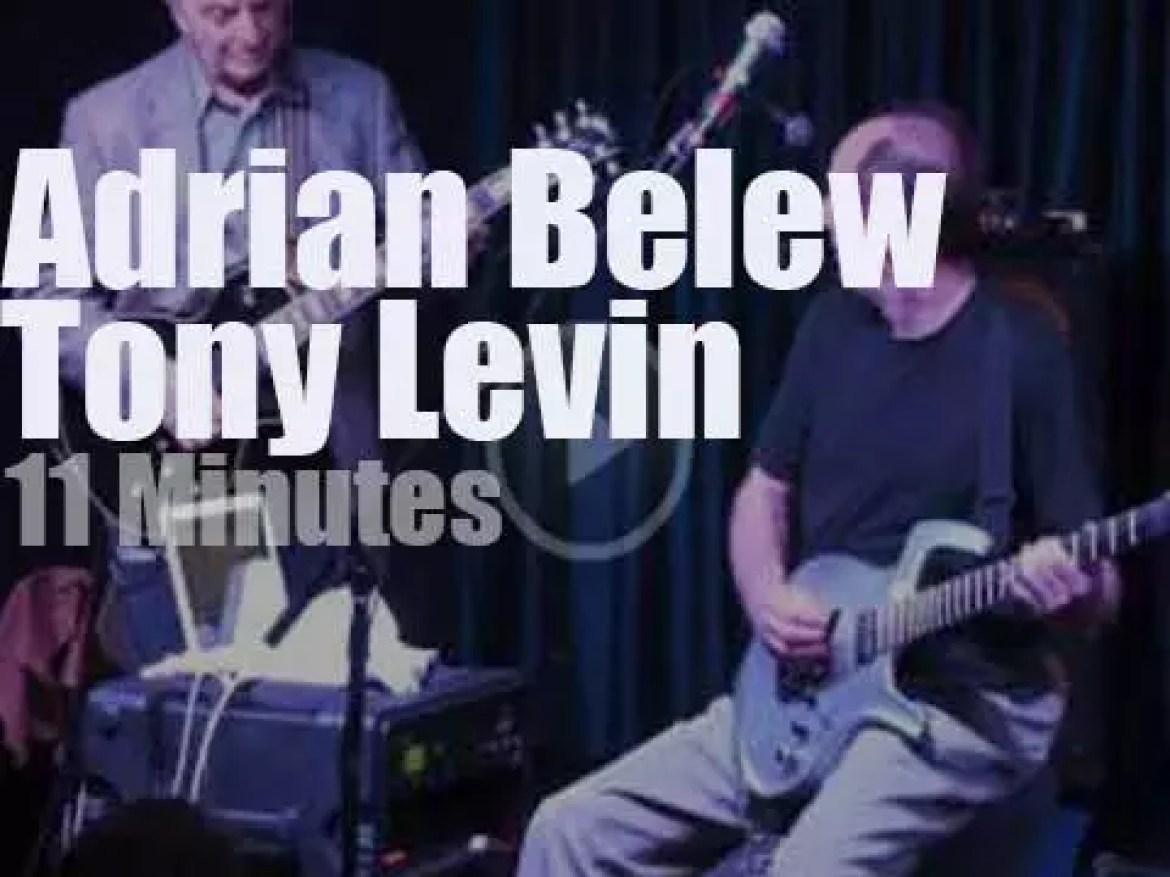 Adrian Belew and Tony Levin meet in NYC (2011)
