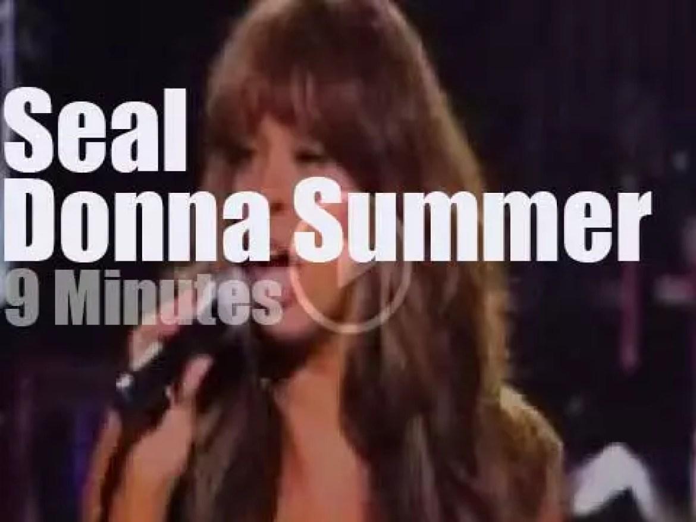 Donna Summer meets Seal in Las Vegas (2010)