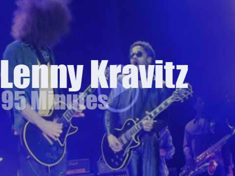 Lenny Kravitz struts in Belgium (2014)