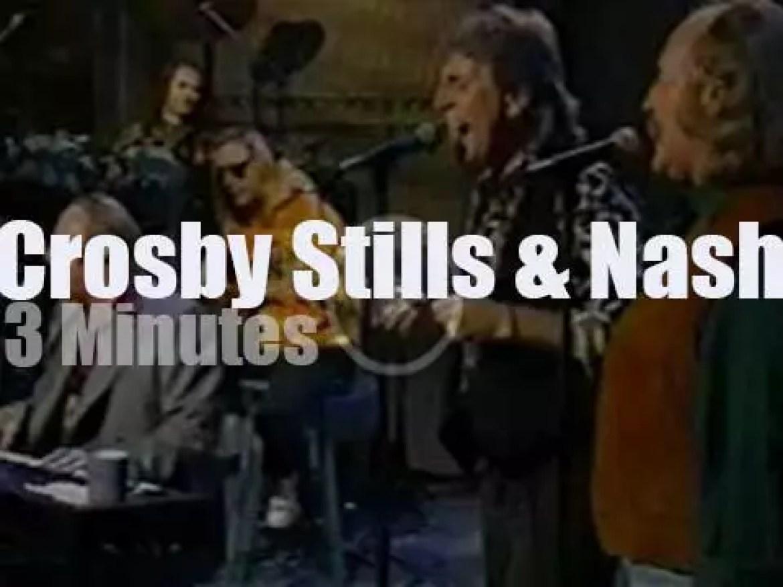 On TV today, Crosby Stills & Nash with David Letterman (1991)
