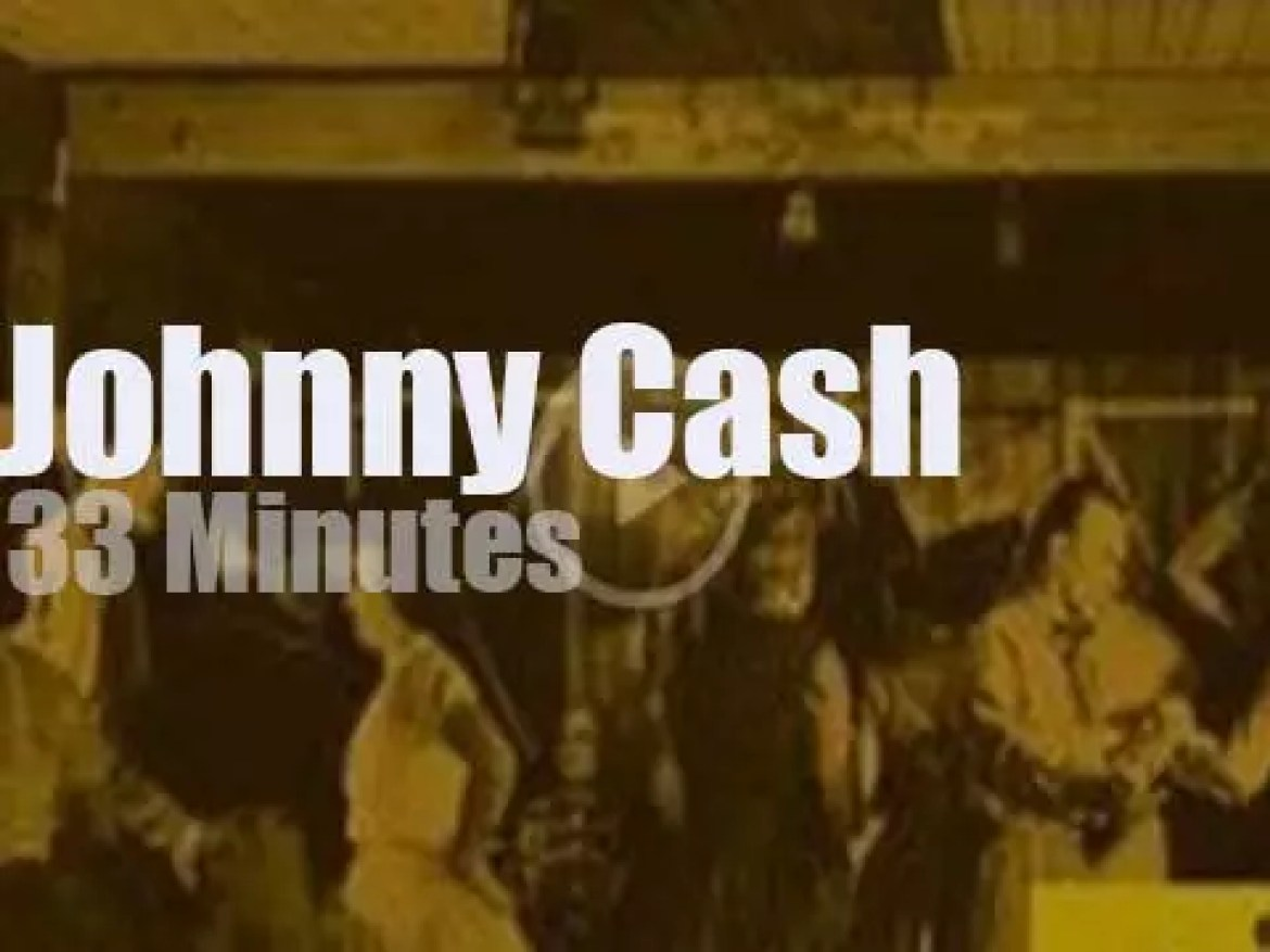 On TV today, Johnny Cash at 'Town Hall Party' (1958)