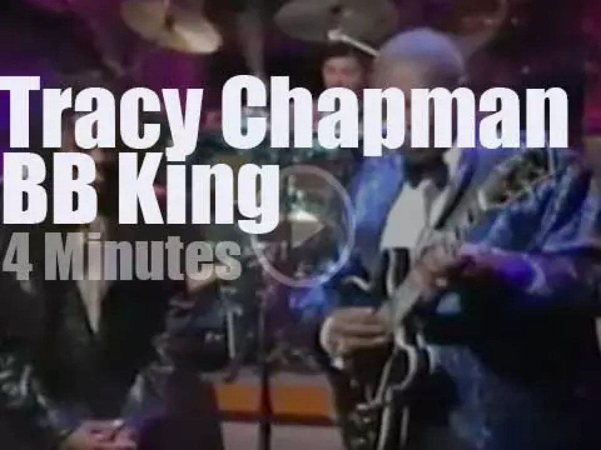 On TV today, Tracy Chapman & BB King with David Letterman (1997)