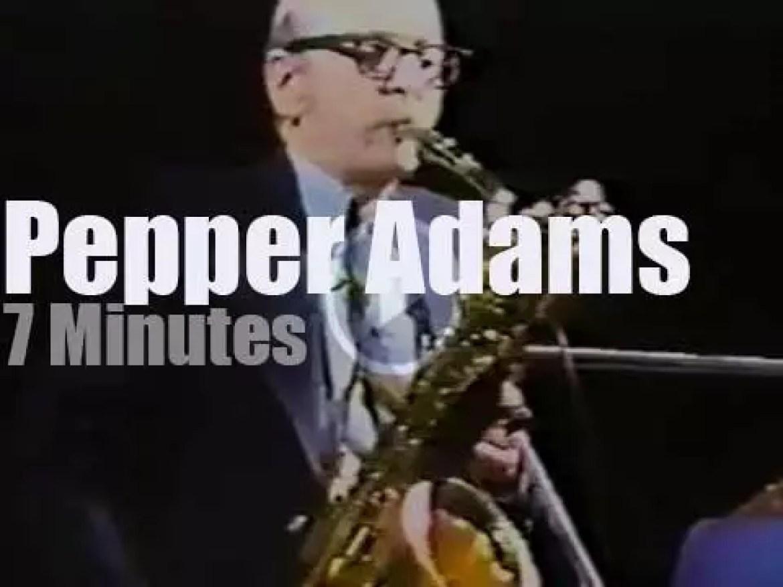 Pepper Adams blows in Barcelona (1983)