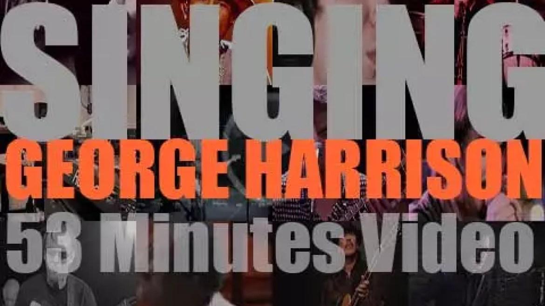 Singing  George Harrison