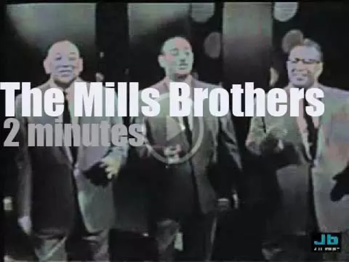 On TV today, The Mills Brothers at 'The Nat King Cole Show' (1957)