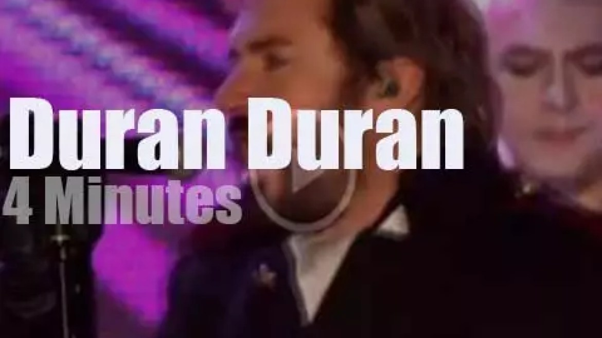 On English TV today, Duran Duran at 'National Lottery' (2010)