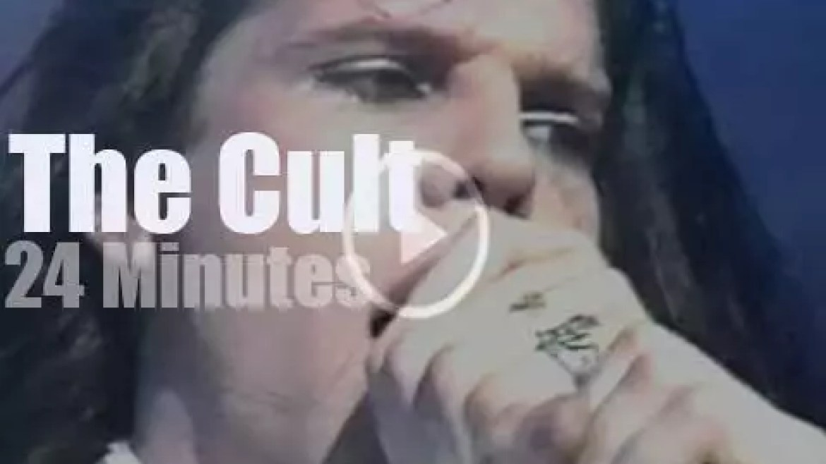 On English TV today, The Cult at 'Bliss in Concert' (1986)