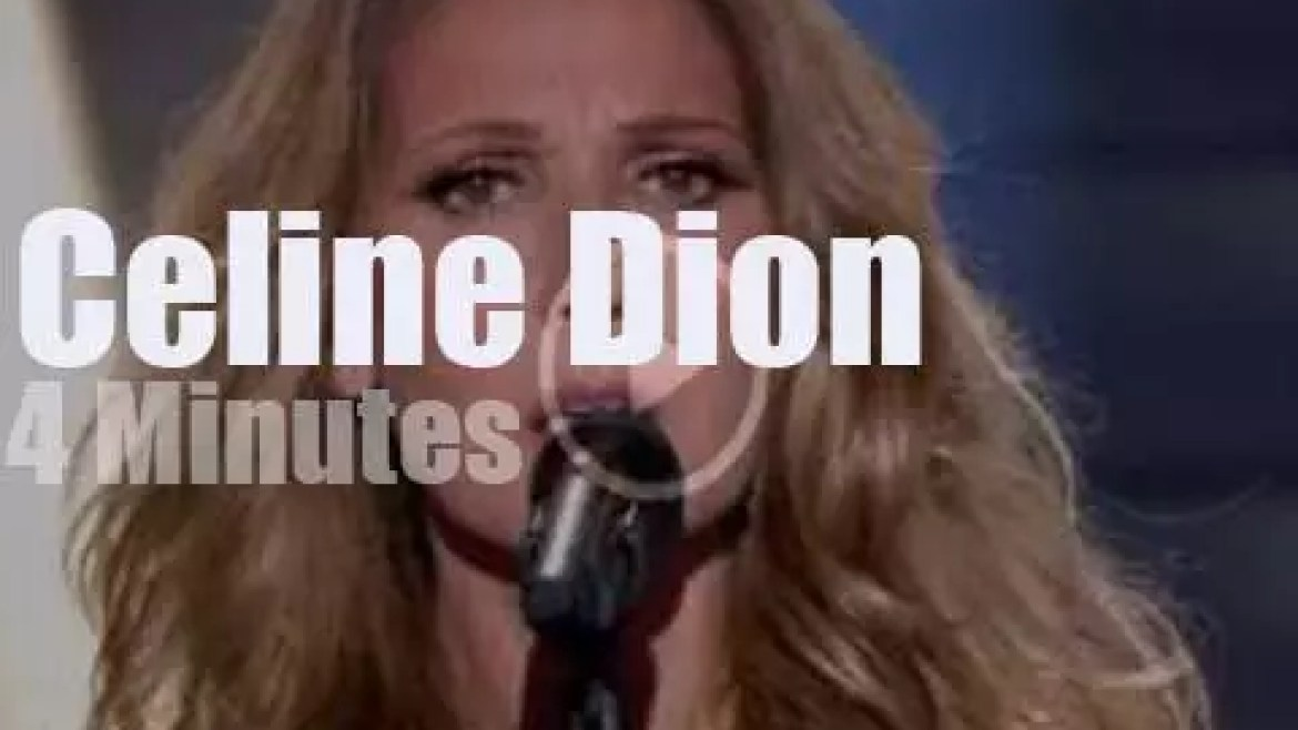 On French TV, Celine Dion covers Brel (2013)