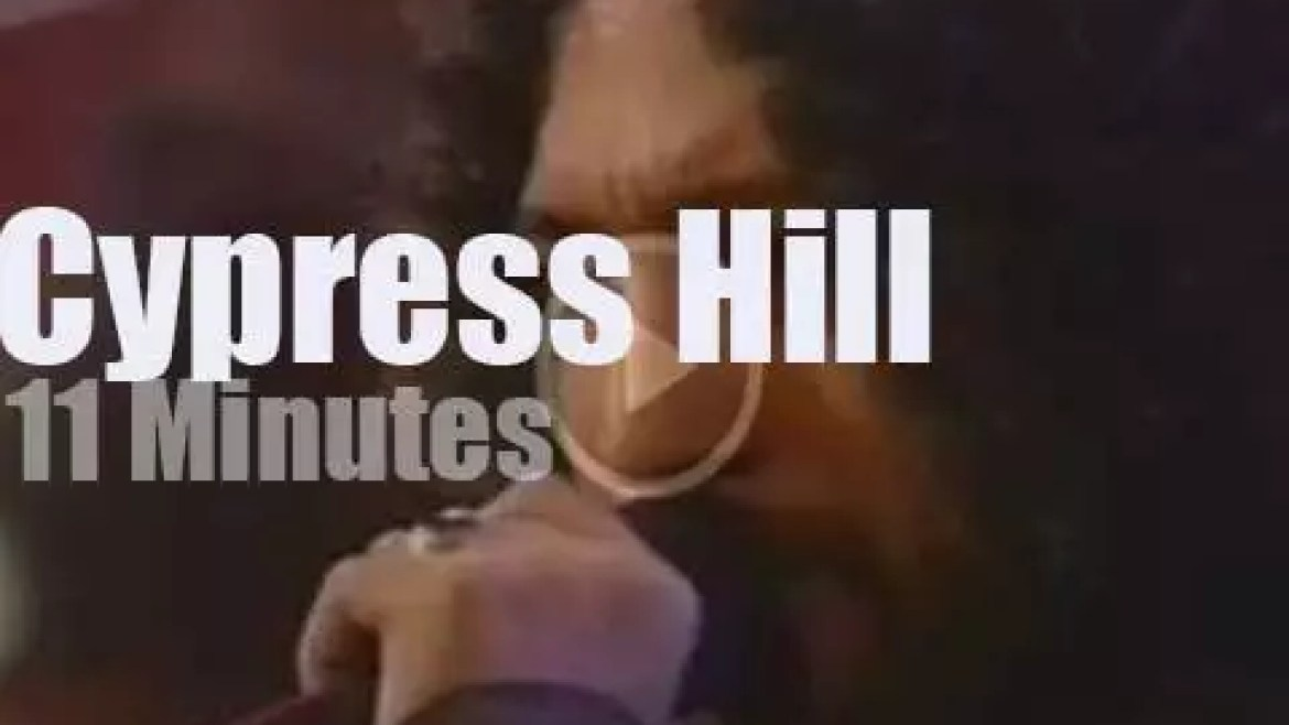 On TV today, Cypress Hill at 'MTV Live and Loud' (1993)