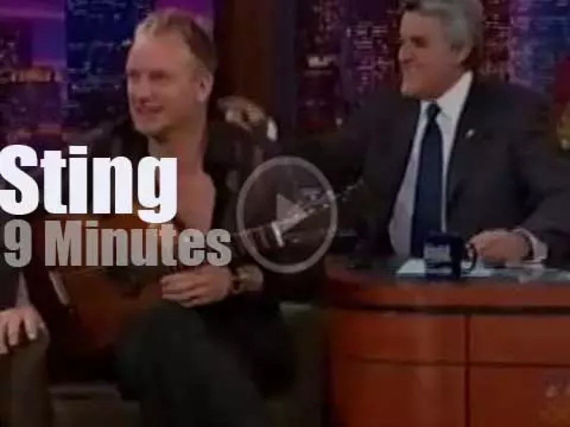 On TV today, Sting with Jay Leno (2001)