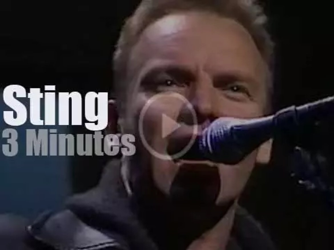 On TV today, Sting with David Letterman (1994)