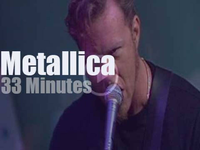 On Australian TV today, Metallica at ABC Studios (1998)