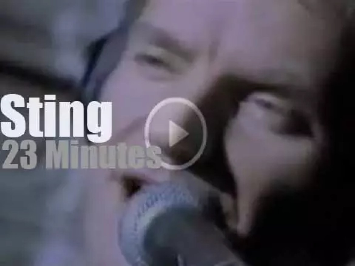 On TV today, Sting at VH1 'One To One' (1993)