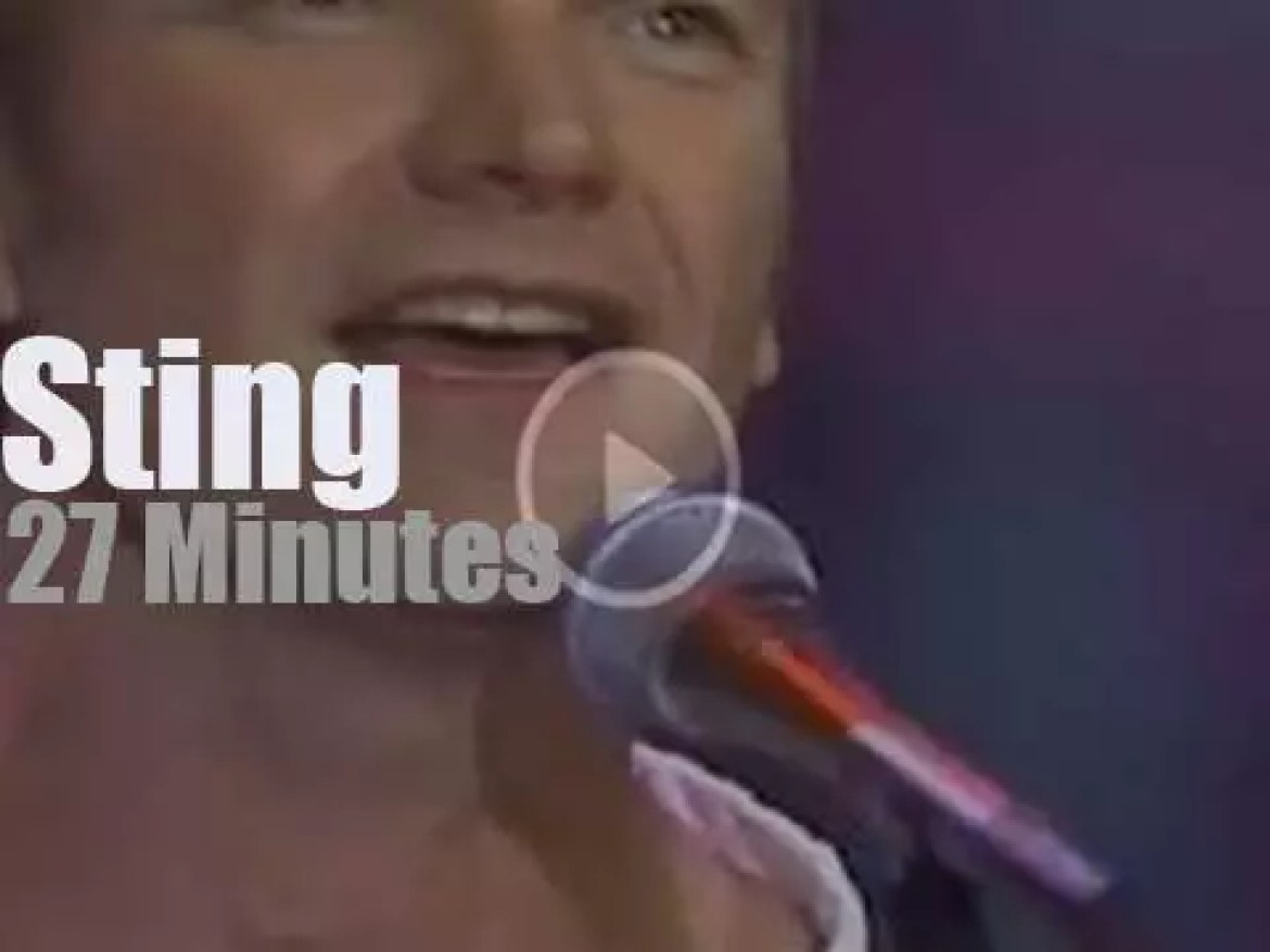 On TV today, Sting with Jay Leno (1993)