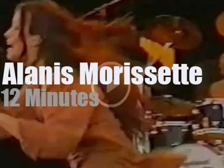 Alanis Morissette attends a German festival (1996)