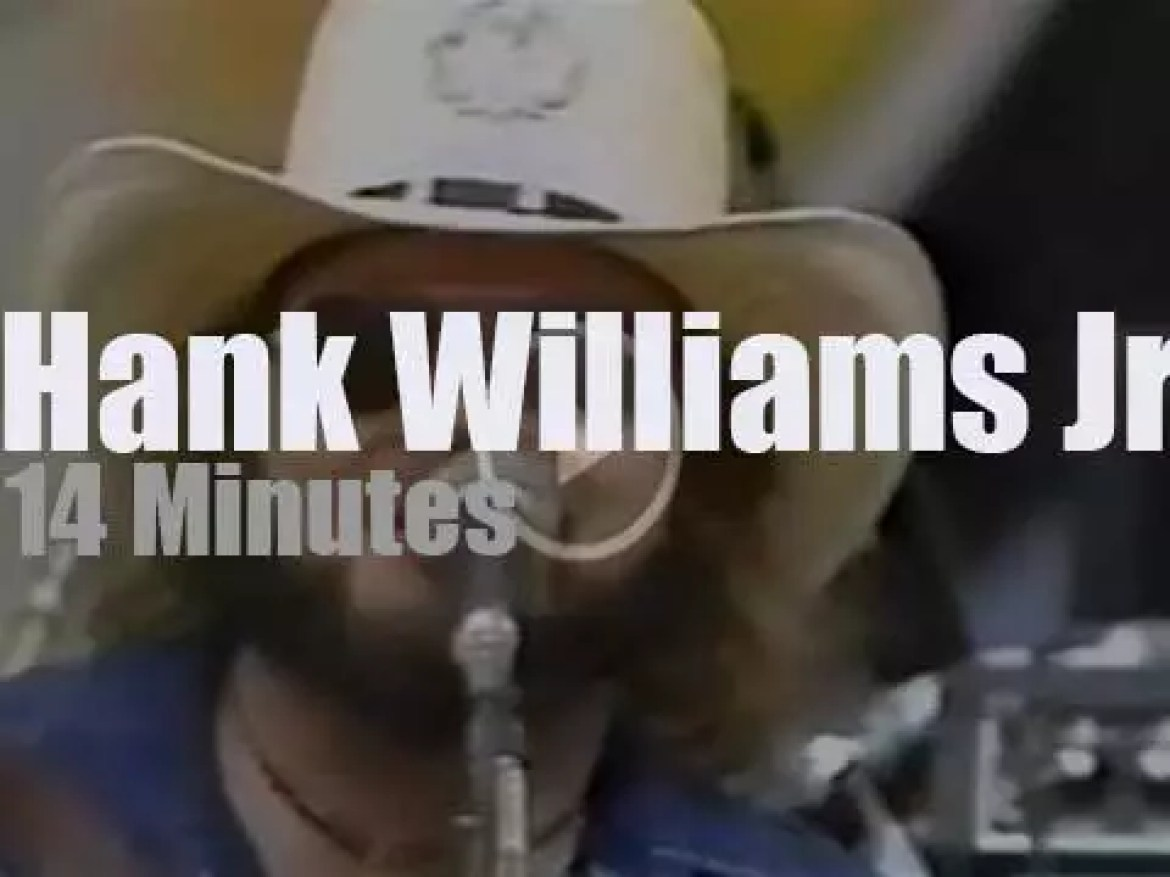 Hank Williams Jr. sings at  US festival  'Country Day' (1983)