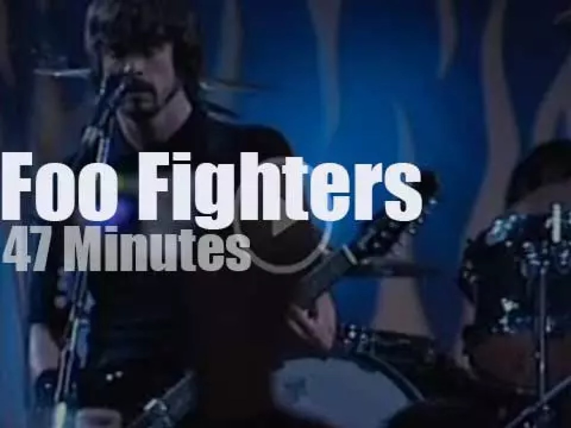 On Australian TV today, the Foo Fighters at Channel V (2005)