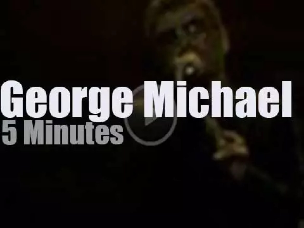 On TV today, George Michael at 'American Idol' (2008)