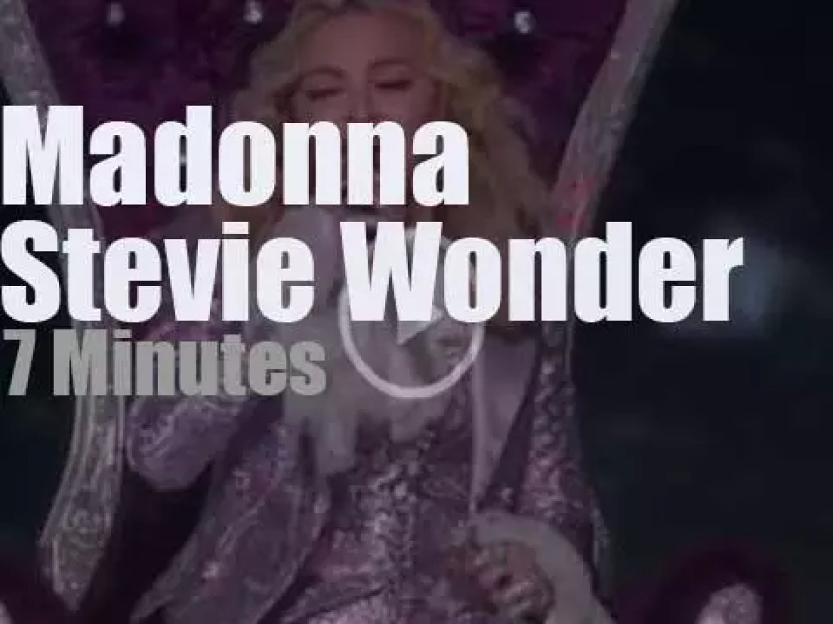 On TV today, Madonna teams up with Stevie Wonder to celebrate Prince (2016)