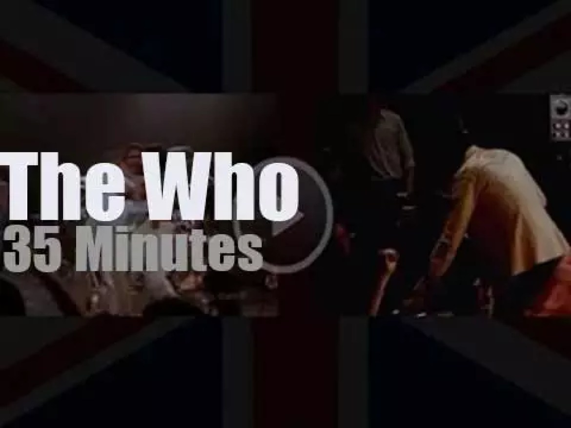 The Who shoot a film at Shepperton Studios (1978)