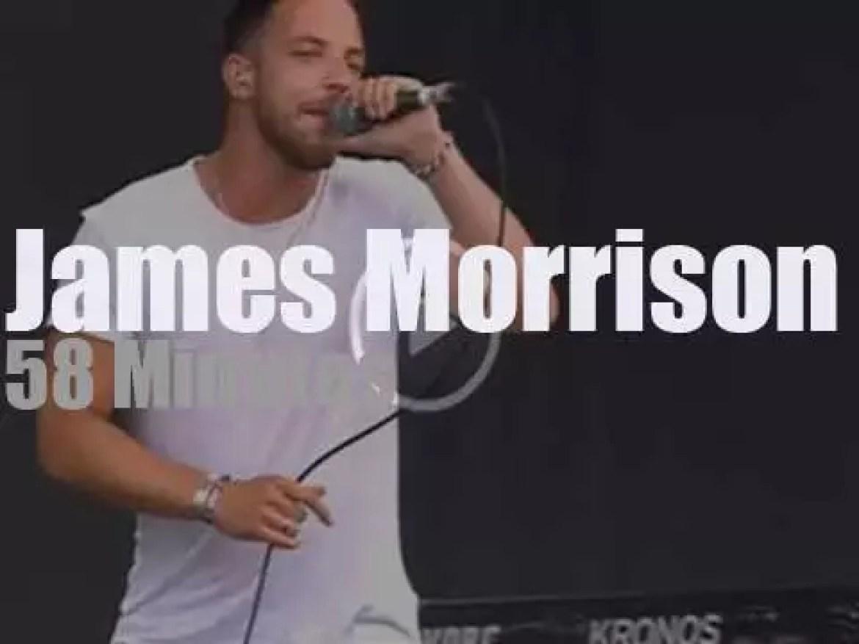 James Morrison sings at Pinkpop (2016)