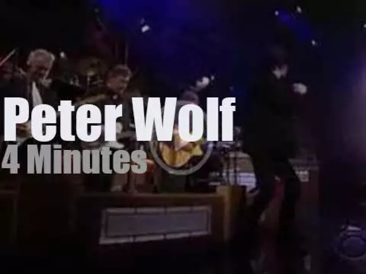 On TV today,  Peter Wolf  with David Letterman (2010)