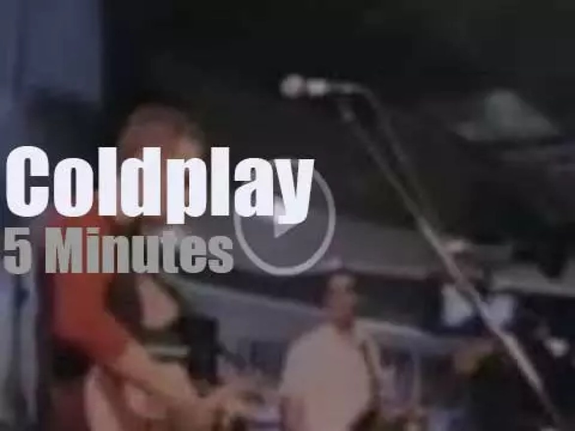 Coldplay  promote 'Parachutes' at a record store (2000)