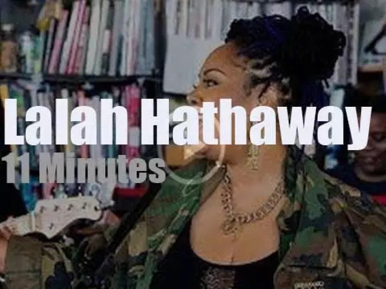 Lalah Hathaway sings at the NPR office (2018)