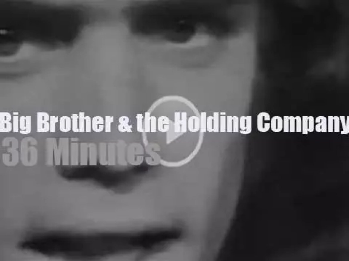 On TV today, Big Brother and the Holding Company on KQED (1968)