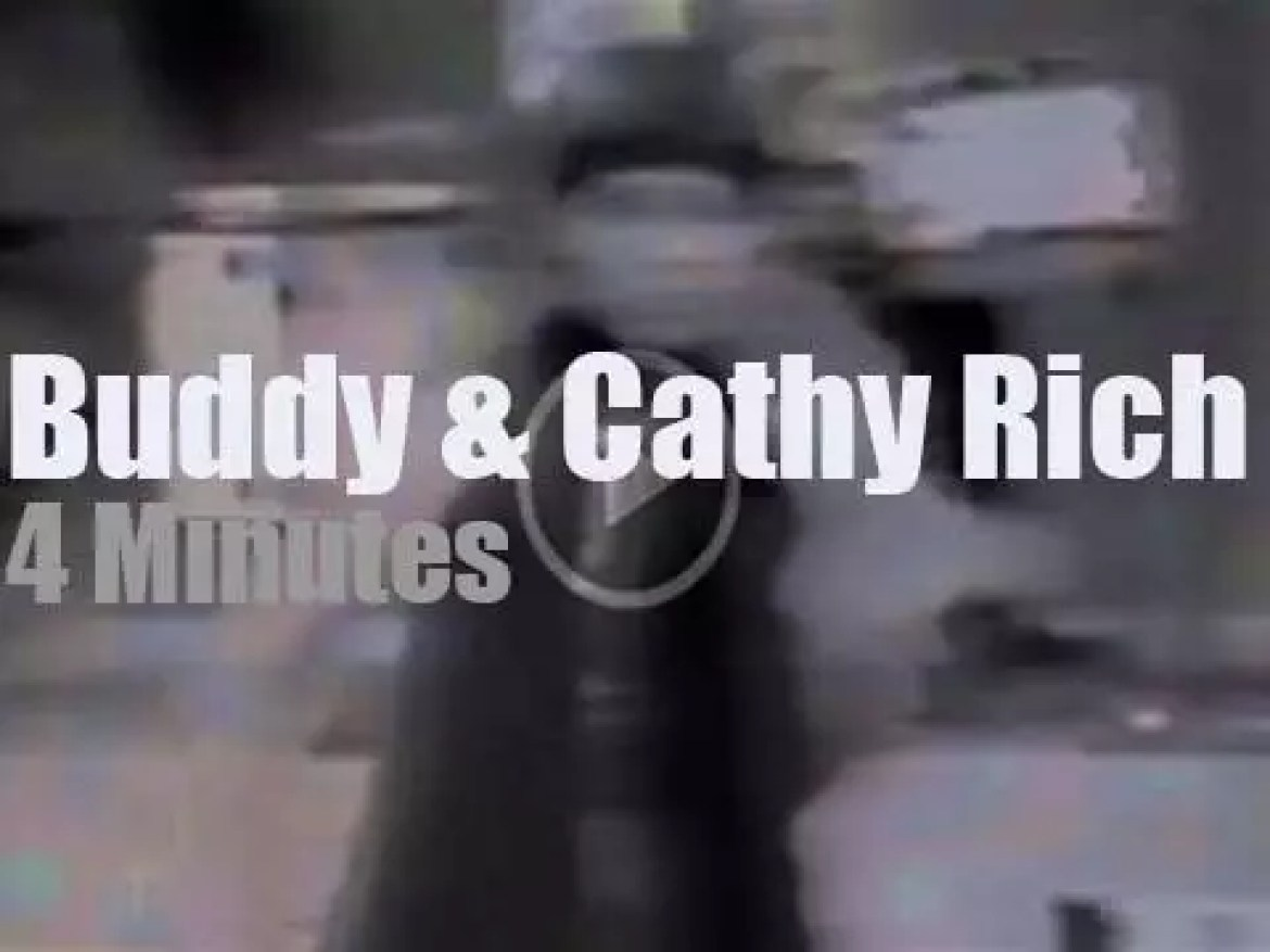 On TV today, Cathy Rich sings and her dad Buddy drums (1967)