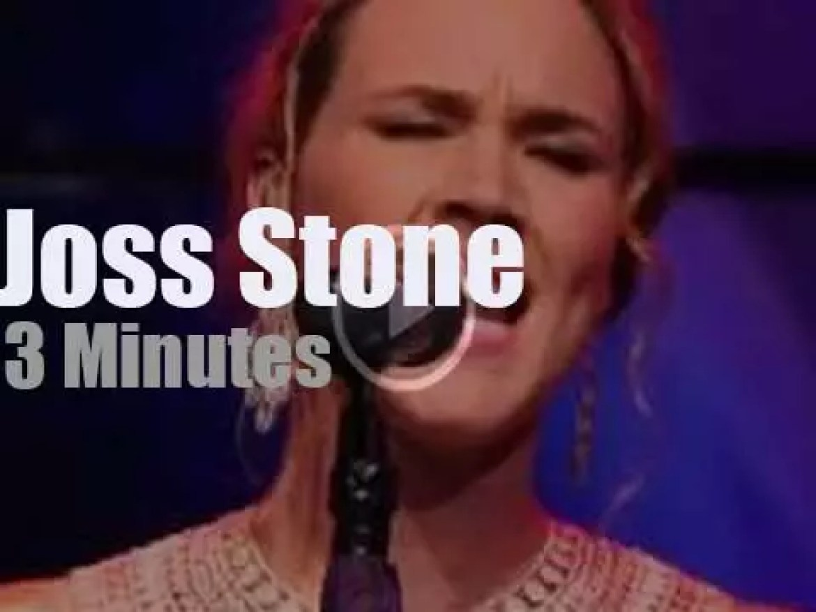 On TV today, Joss Stone at 'Live! With Kelly' (2012)