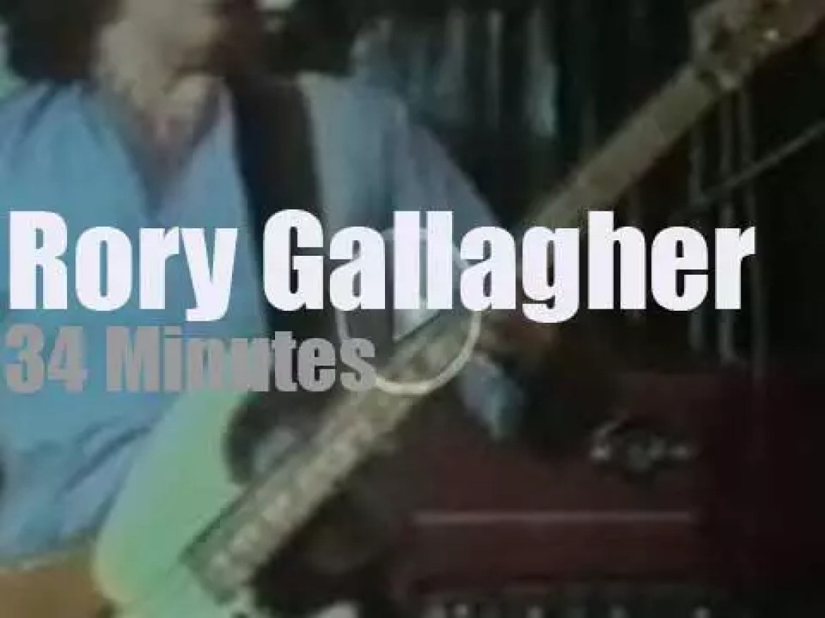 Rory Gallagher plays at Montreux Jazz  (1977)