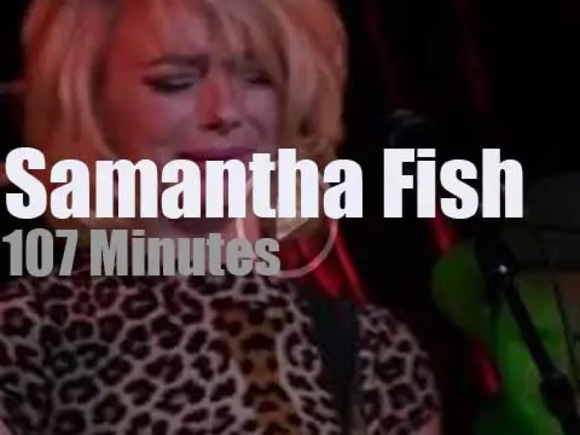 Samantha Fish sings and plays in NYC (2017)