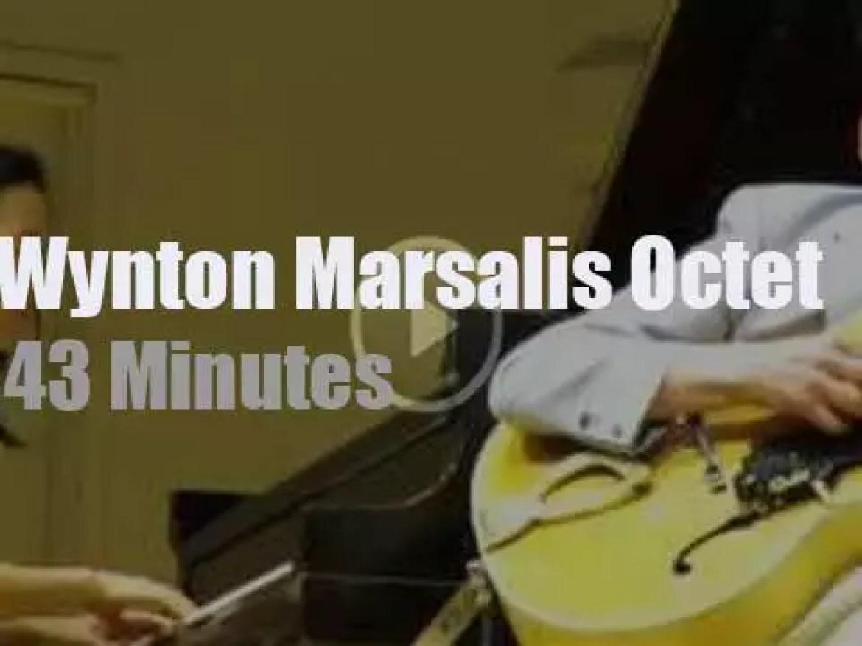 Wynton Marsalis takes his Octet to a college (2017)