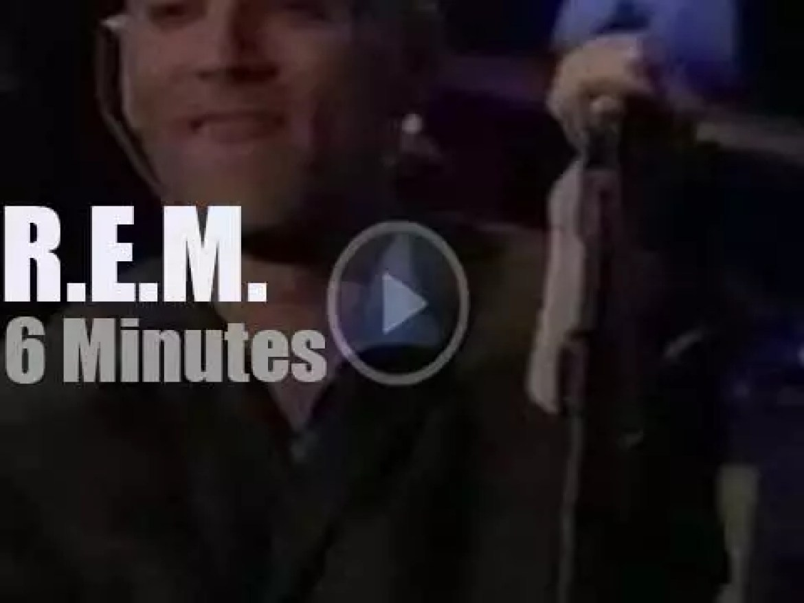 On TV today, R.E.M at the MTV 'Video Music Awards' (1995)