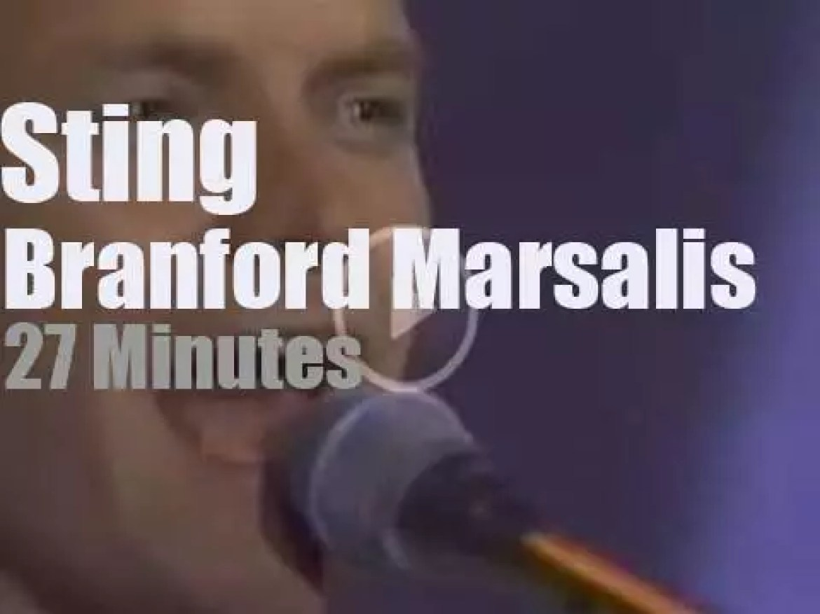On TV today, Sting and Branford Marsalis with Jay Leno  (1993)