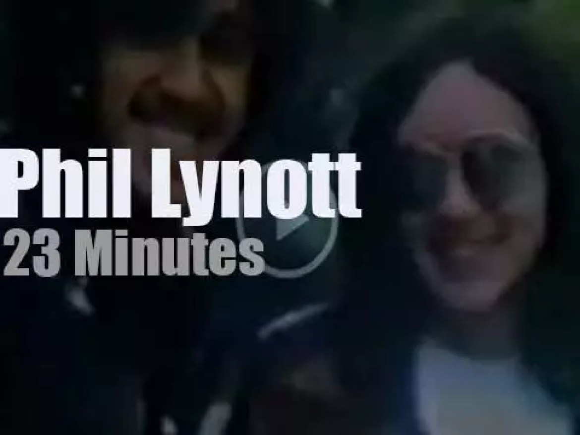 On Irish TV today, Phil Lynott at 'Me and My Music' (1976)
