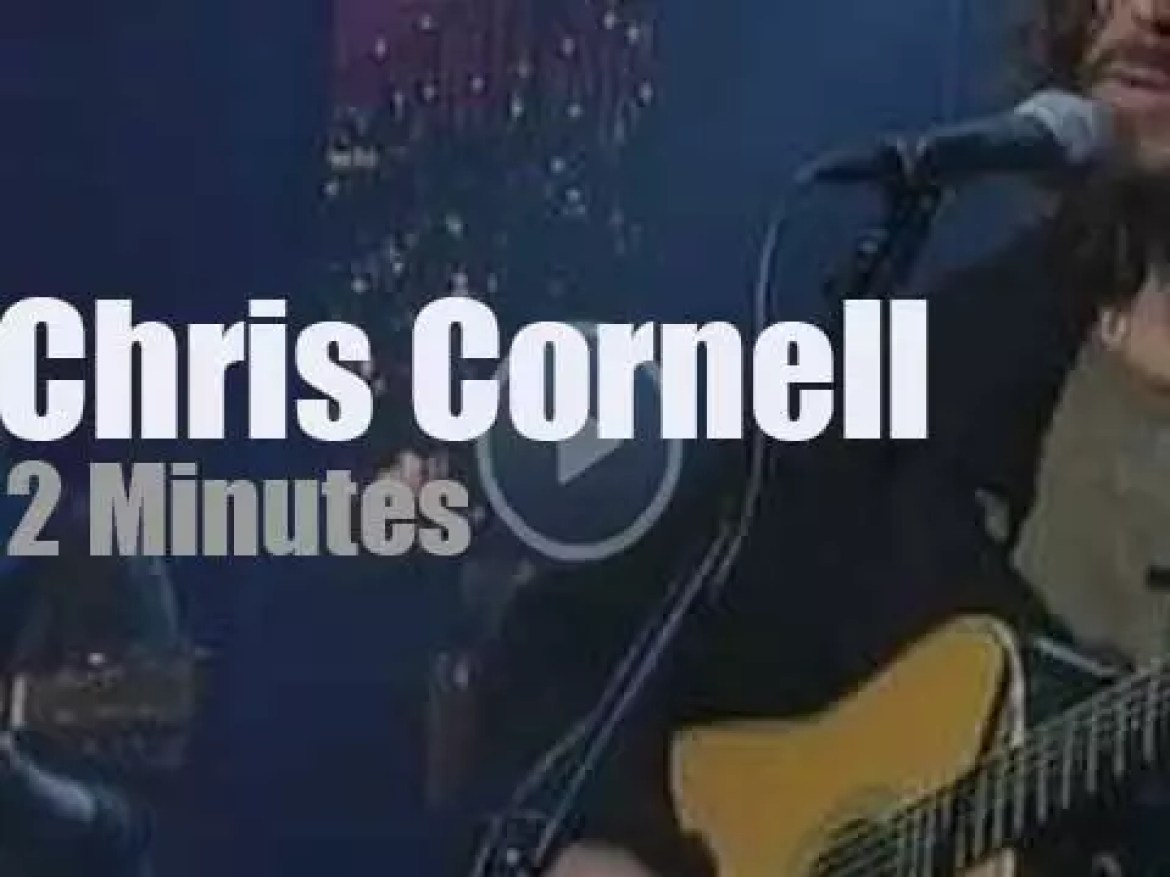 On TV today, Chris Cornell with David Letterman (2011)