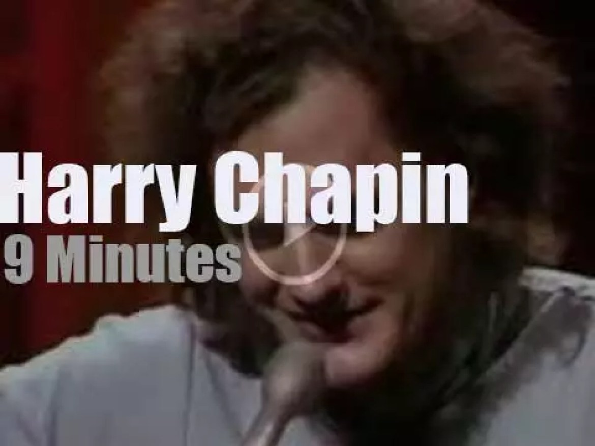 On TV today, Harry Chapin with Johnnie Carson (1973)
