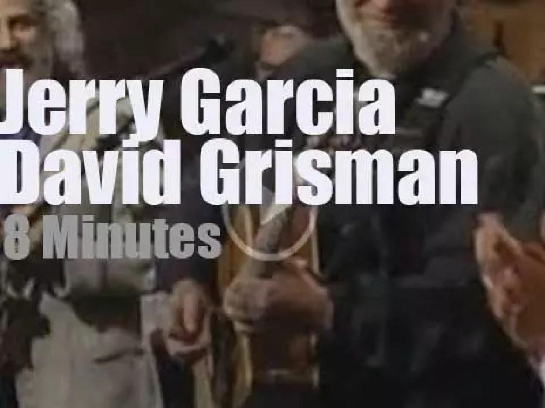 On TV today, Jerry Garcia & David Grisman live on 'Letterman' (1993)
